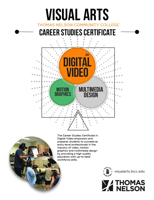 Digital Video Certificate Flyer