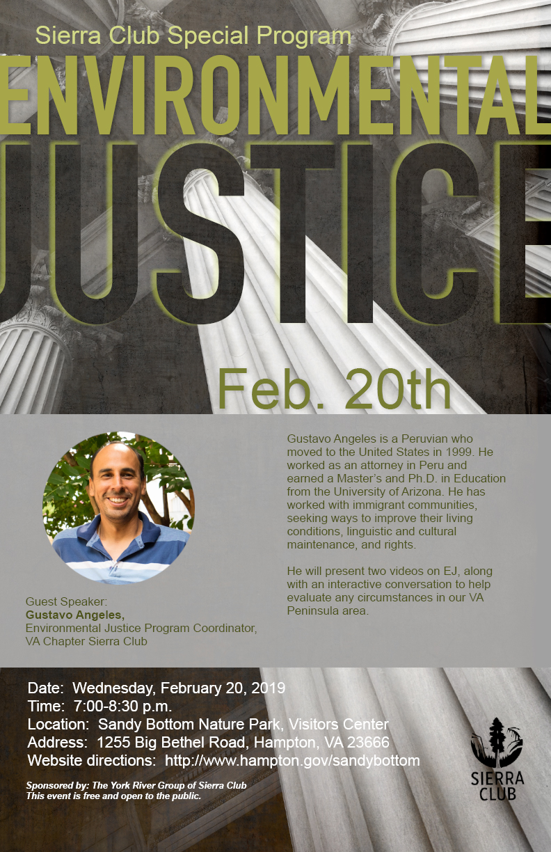 An image of an event poster for Environmental Justice