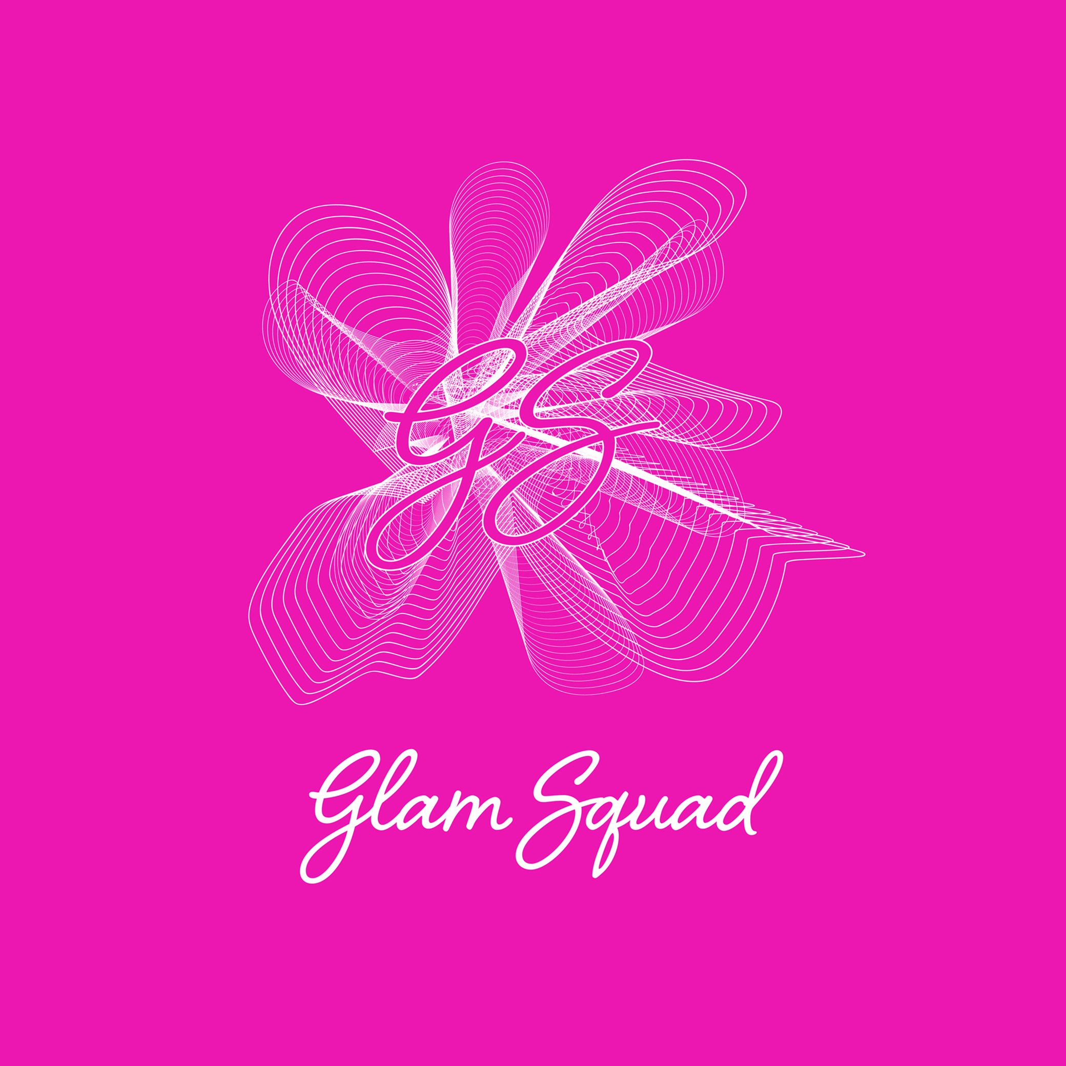 Pink design that says Glam Squad
